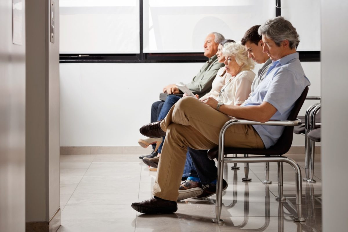 people sitting in a waiting room